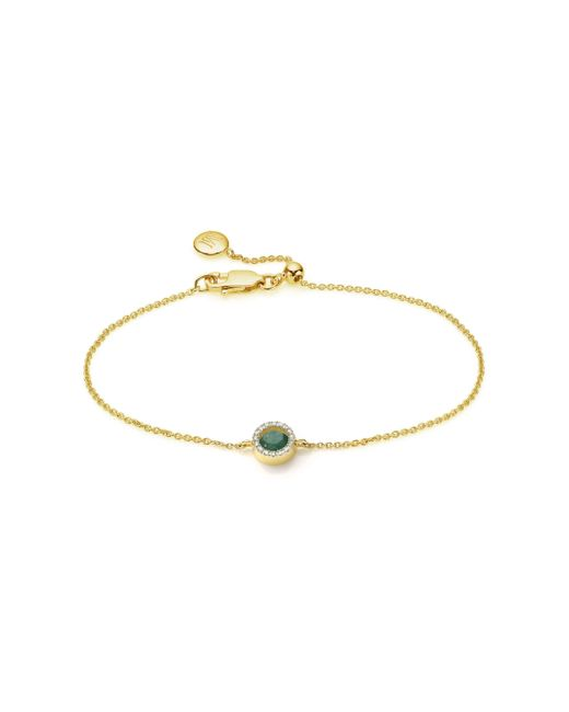 Monica Vinader - Metallic Naida Mini Circle Bracelet - Lyst