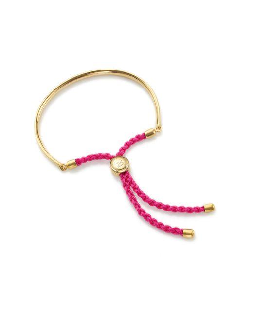 Monica Vinader - Red Fiji Friendship Petite Bracelet - Lyst