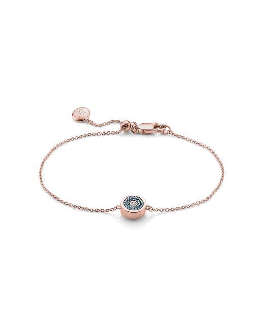 Monica Vinader - Pink Evil Eye Chain Bracelet - Lyst