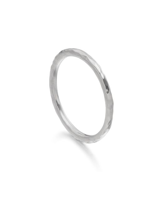 Monica Vinader - Metallic Hammered Ring - Lyst