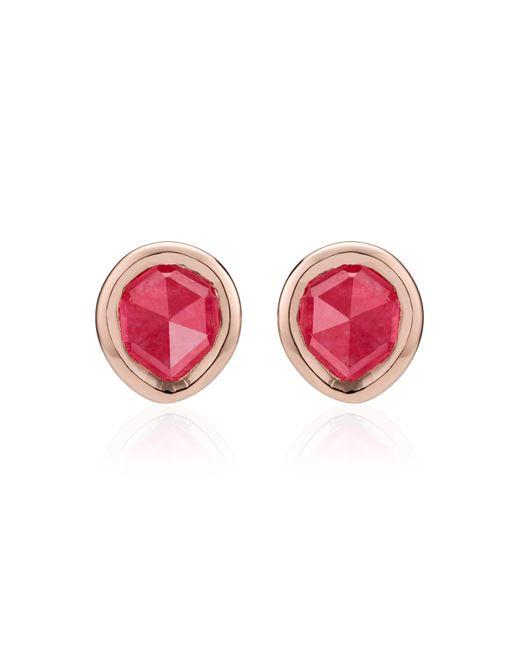 Monica Vinader - Pink Siren Mini Stud Earrings - Lyst