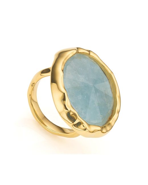 Monica Vinader - Metallic Siren Cocktail Round Ring - Lyst