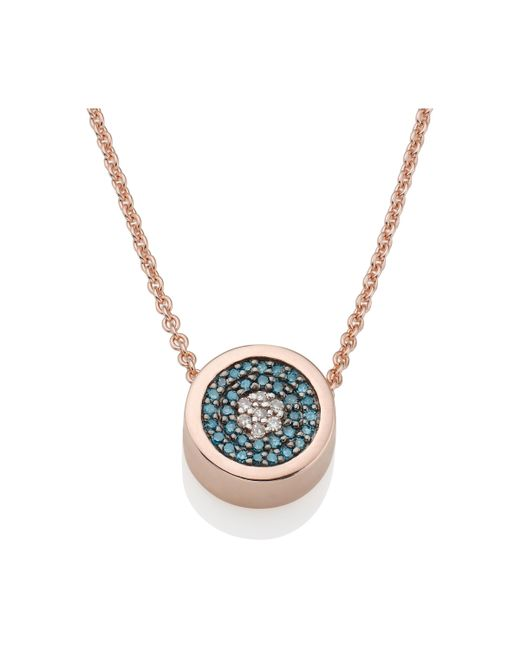 Monica Vinader - Blue Evil Eye Necklace - Lyst