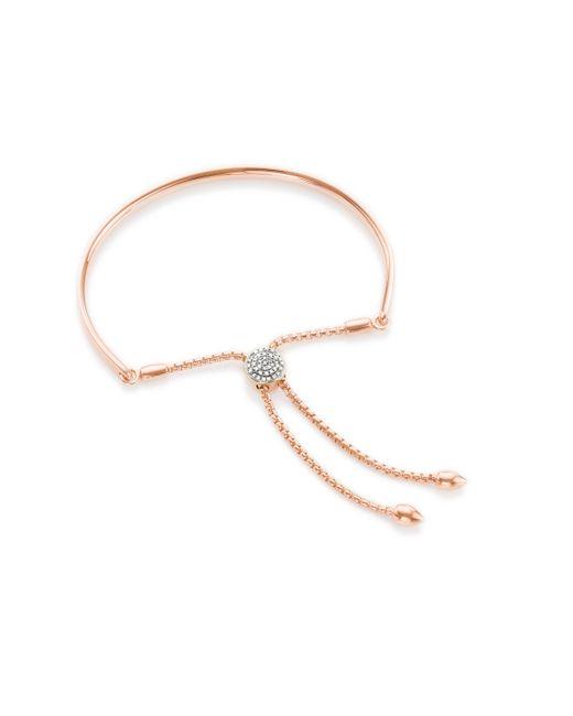Monica Vinader - Pink Fiji Diamond Toggle Bracelet - Lyst