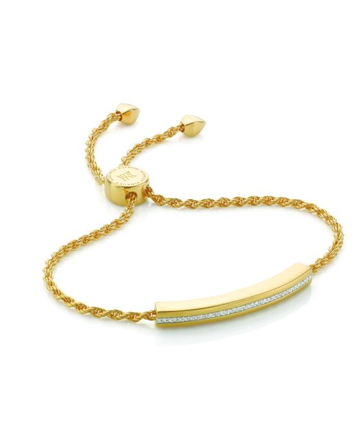 Monica Vinader | Metallic Linear Diamond Chain Bracelet | Lyst