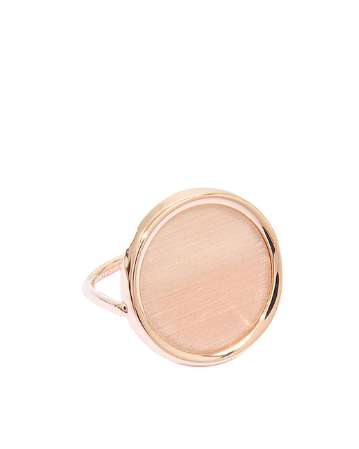 Ginette NY | Pink Brush Gold Disc Ring | Lyst