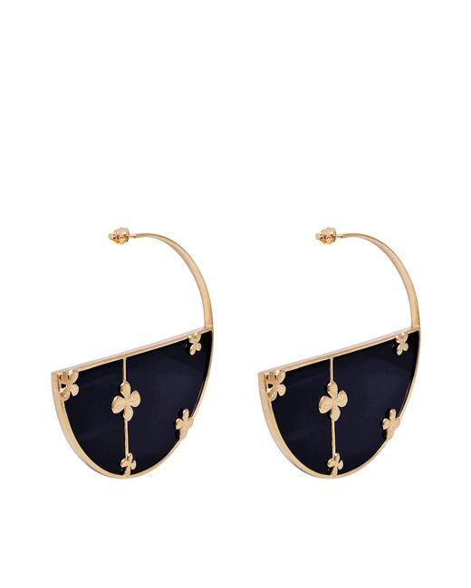 Aurelie Bidermann   Metallic Bianca Onyx Hoop Earrings   Lyst