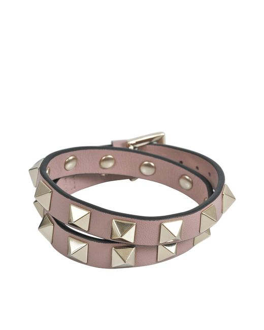 Valentino | Multicolor Rockstud Double Leather Bracelet | Lyst