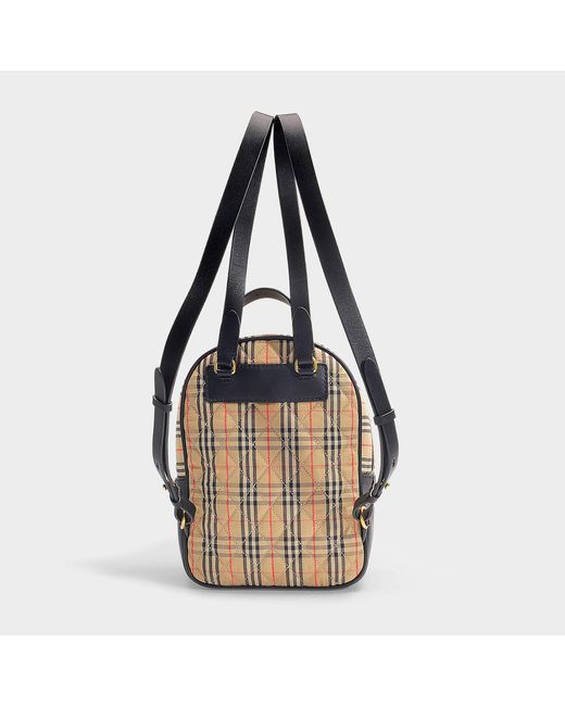d0be86162b82 ... Burberry - Natural The Link Backpack In Vintage Check Cotton And Black  Leather - Lyst ...