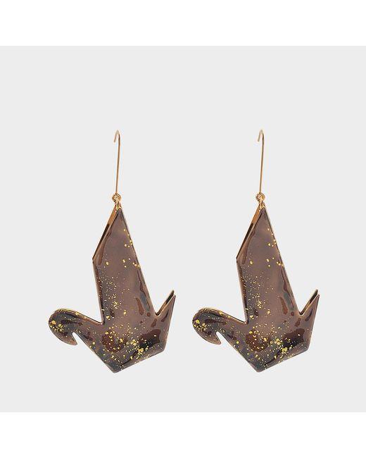 Stella McCartney - Black Earring Origami - Lyst