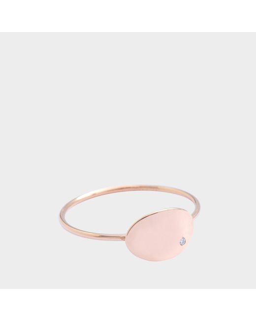 Ginette NY - Pink Mini Ellipses & Sequins Ring - Lyst