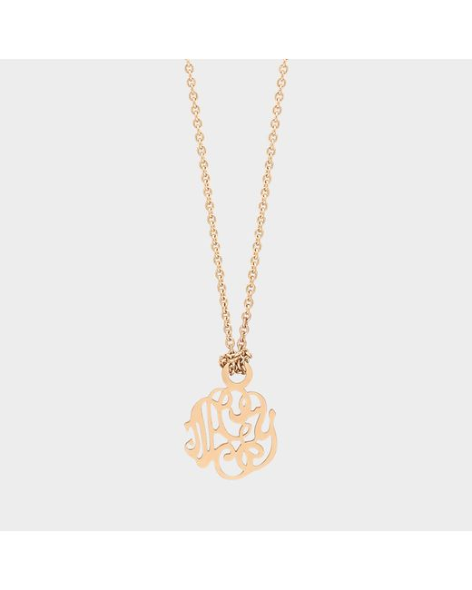 Ginette NY - Pink Mini Monogram Necklace - Lyst