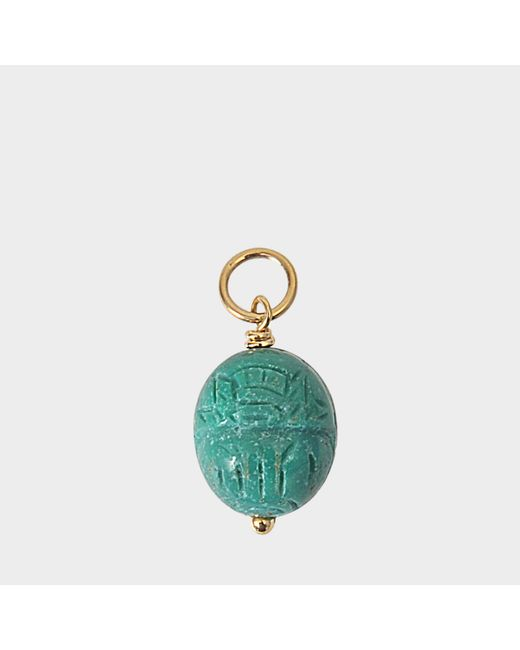 Aurelie Bidermann - Metallic Pendant Turquoise Only With Gold Attach - Lyst