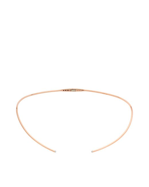 Vanrycke - Pink Massai Torc Necklace In Gold And Diamonds - Lyst