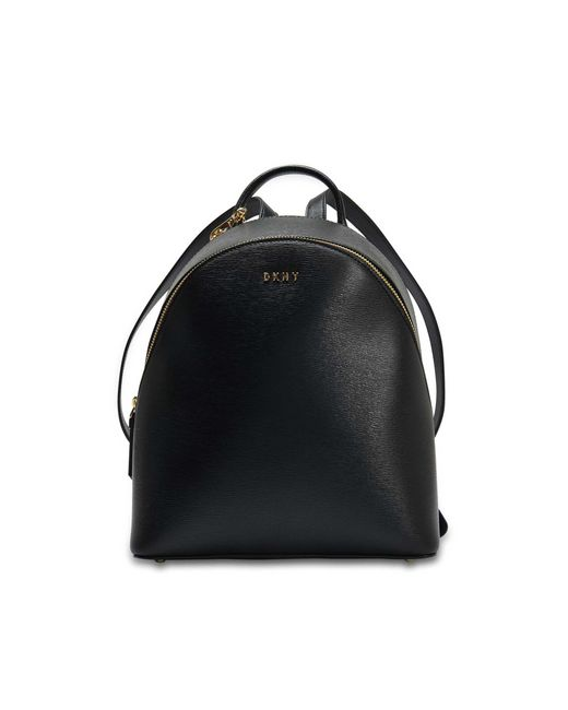 DKNY - Sutton Medium Backpack In Black Textured Leather - Lyst