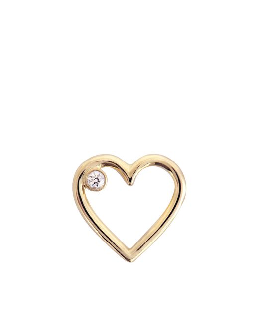 Aurelie Bidermann - Metallic Fine Jewellery - 18k Love Single Earring With Diamond - Lyst