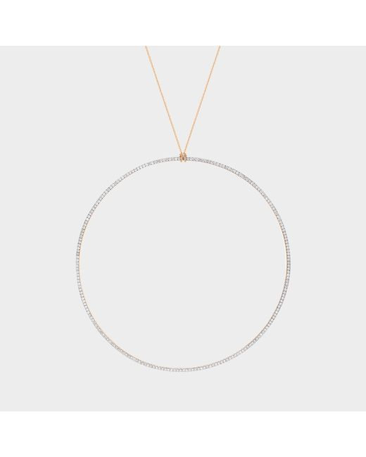Ginette NY - Metallic Jumbo Diamond Circle On Chain Necklace - Lyst