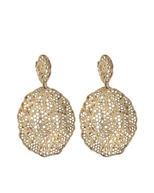 Aurelie Bidermann   Metallic Lace Pendant Earrings   Lyst