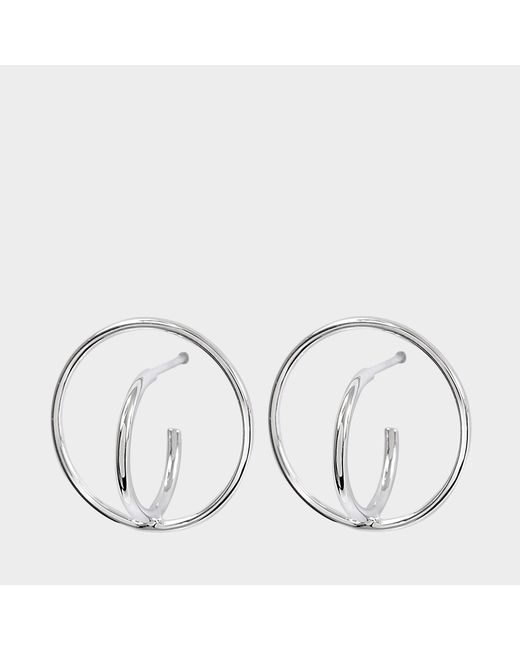 Charlotte Chesnais - Multicolor Saturn S Earrings In Silver - Lyst