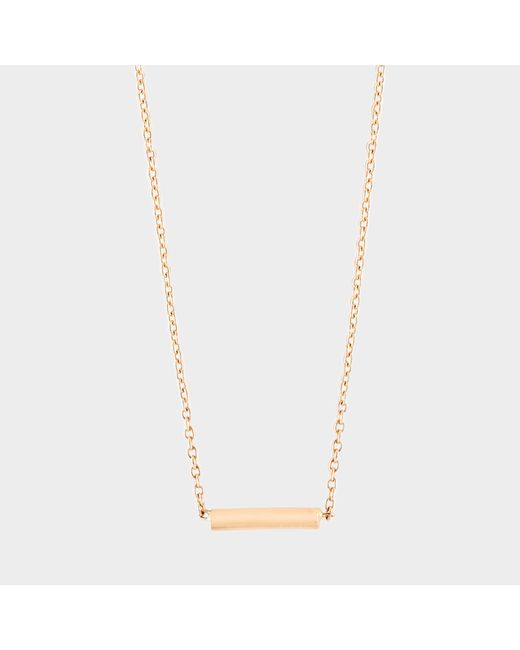 Ginette NY - Metallic Gold Strip Necklace - Lyst