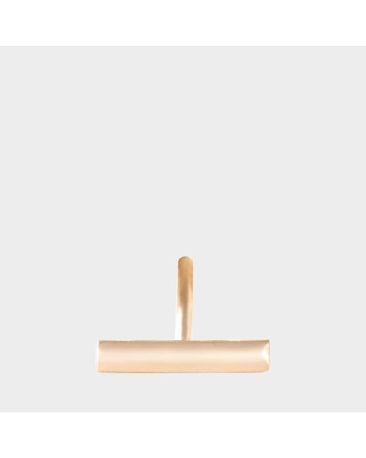 Ginette NY - Metallic Solo Gold Strip Stud Earring - Lyst