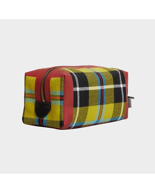 RW Washbag Bag in Tartan Flax and Yellow Cotton Burberry XHhLMkte