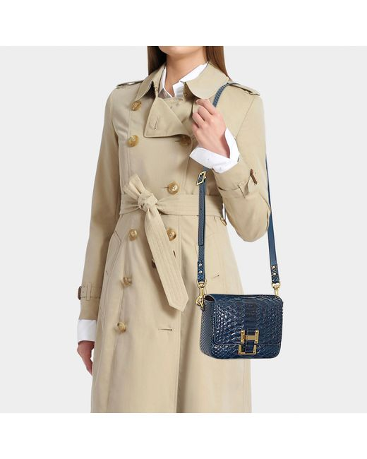 Sophie Hulme - The Quick Small Bag In Duck Egg Blue Python - Lyst