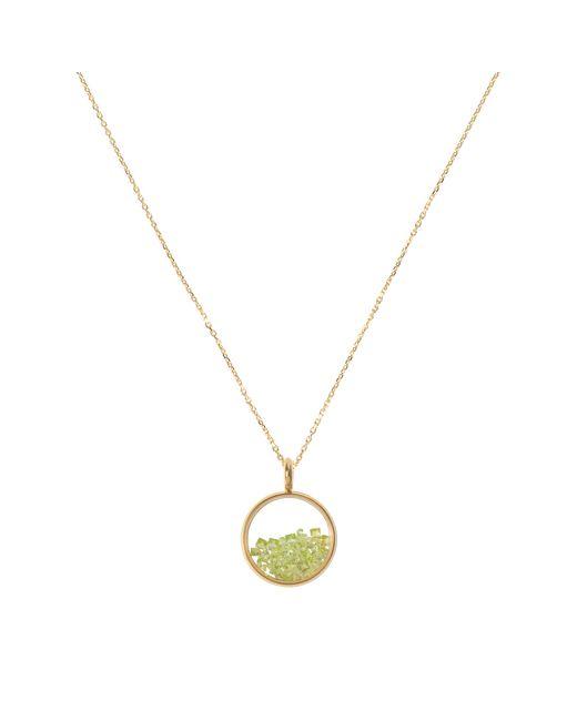 Aurelie Bidermann | Metallic Yellow Gold And Sapphire Glass Baby Medaillon With Peridot | Lyst