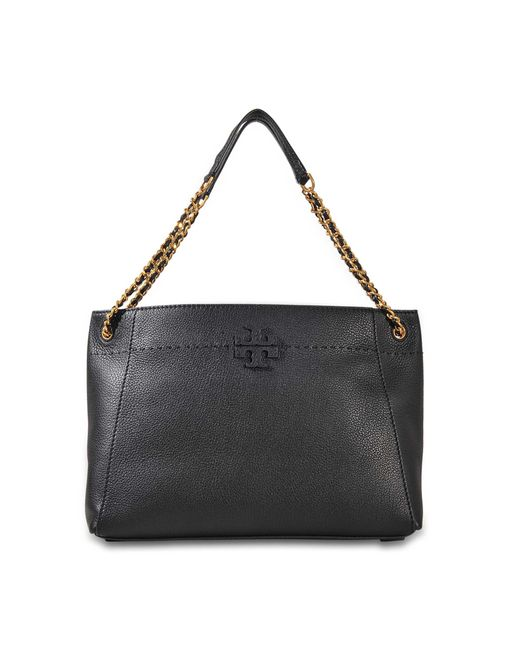 Tory Burch | Black Mcgraw Chain Slouchy Tote | Lyst