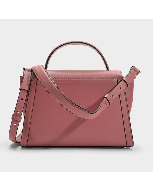 63ad40e48ad5 ... MICHAEL Michael Kors - Pink Whitney Medium Top Handle Satchel Bag In  Rose Calfskin - Lyst ...