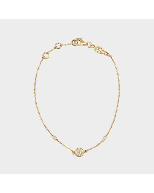 Vanessa Tugendhaft - Metallic Yellow Gold And Diamond Round Charm Bracelet - Lyst