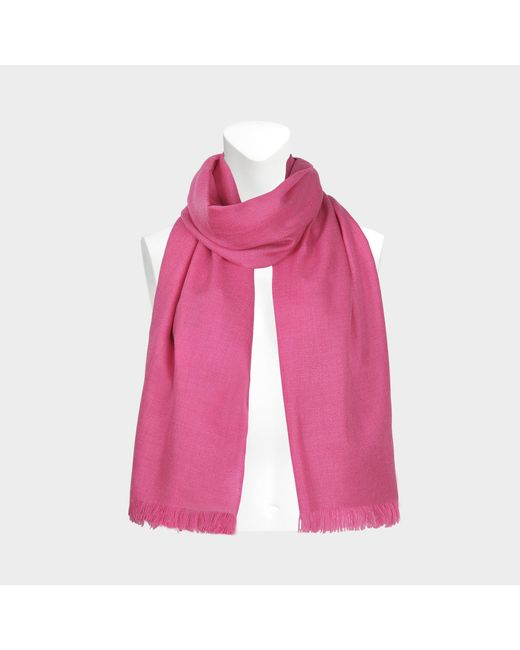 Eric Bompard - Pink Cashmere Voile Stole - Lyst