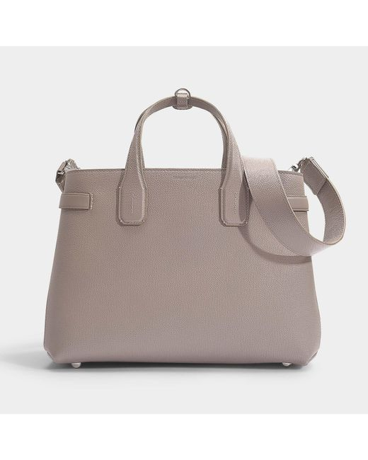 36f78bb46421 Burberry - Natural The Banner Medium Tote In Taupe Brown Calfskin - Lyst ...