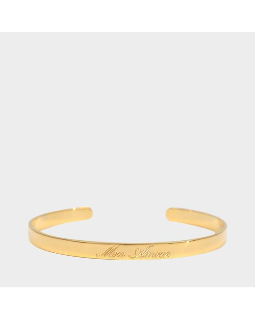 Aurelie Bidermann - Metallic Fine Jewellery - Engraved Bracelet - Lyst