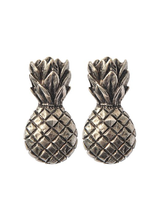 Valentino - Multicolor Tropical Dream Pineapple Clip Earrrings - Lyst