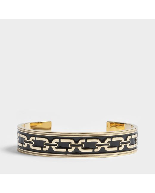 Marc Jacobs - Multicolor Double J Enamel Printed Chain Cuff Bracelet In Black Enamel - Lyst