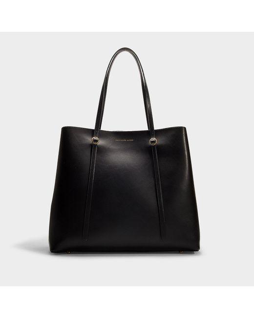 Polo Ralph Lauren - Big Lennox Tote Bag In Black Calfskin - Lyst