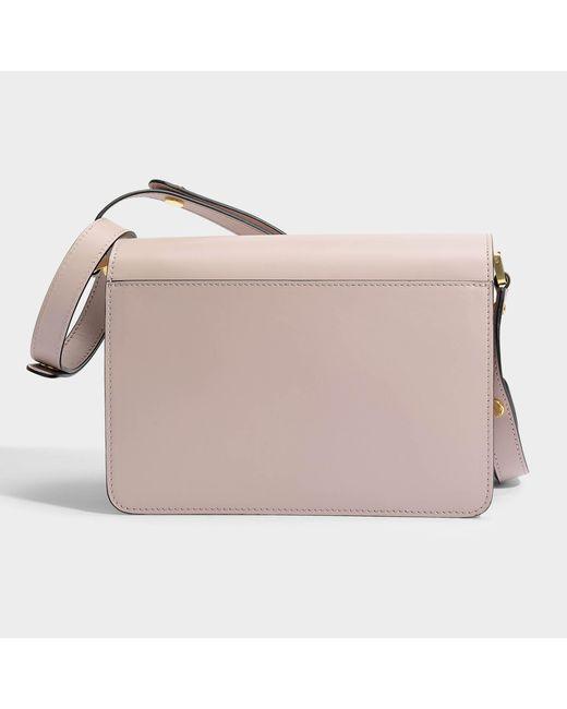 Medium Trunk Bag in Quartz Matte Calfskin Marni AW28e