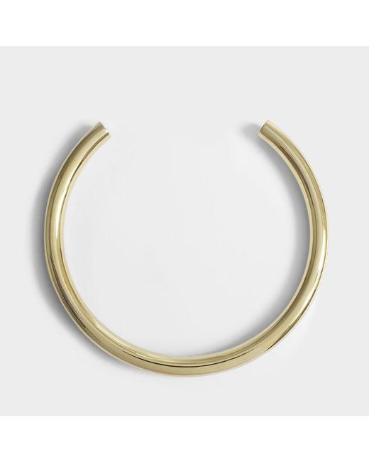Saskia Diez - Metallic Bold Neckpiece Necklace In 18k Gold-plated Brass - Lyst