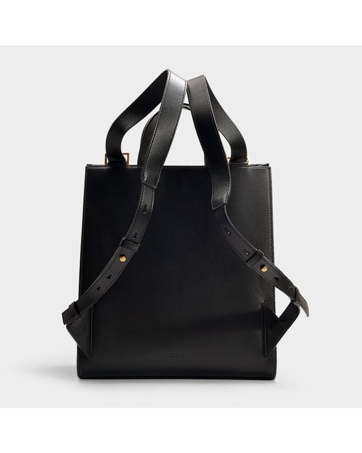 70672d6e19 ... Versace - Hybrid Backpack And Tote In Black Calf Leather - Lyst ...