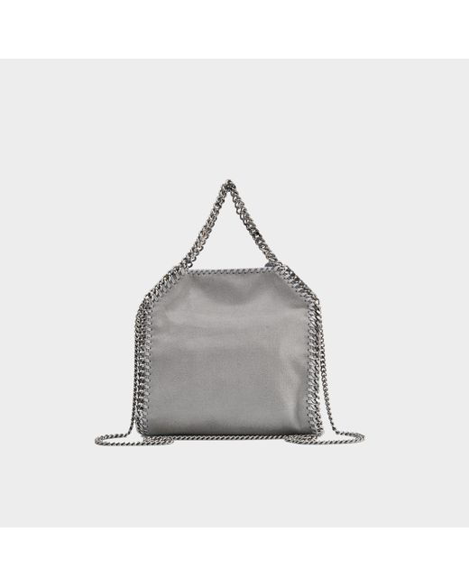 9e20566e6dae ... Stella McCartney - Gray Mini Tote Shaggy Deer Falabella In Light Grey  Synthetic Material - Lyst ...