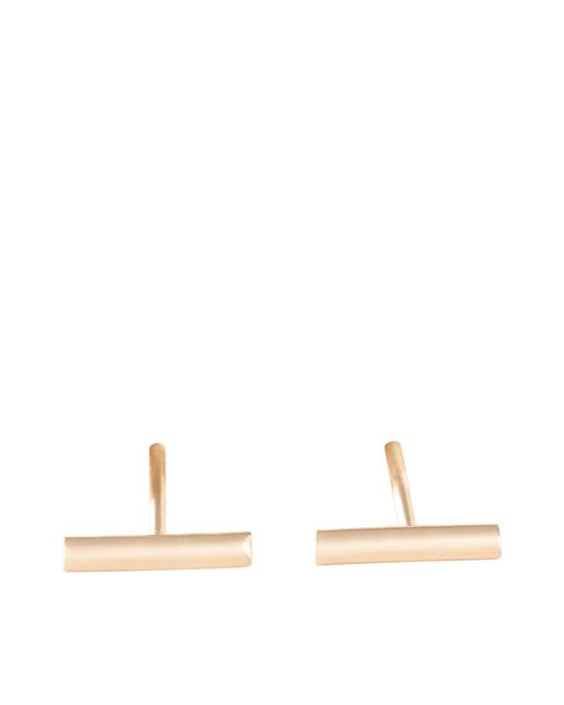 Ginette NY - Metallic Gold Strip Earrings - Lyst