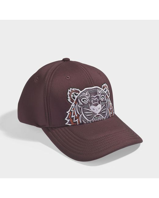 KENZO - Multicolor Icon Cap In Burgundy Synthetic Material - Lyst