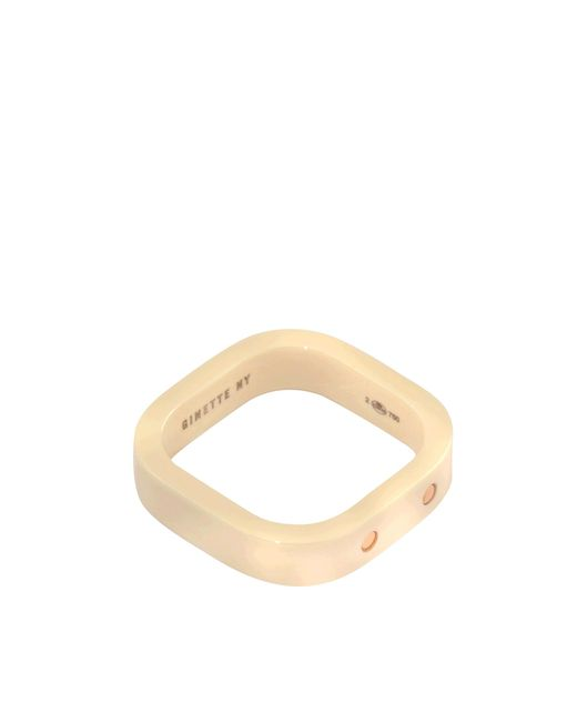 Ginette NY | Metallic Ivory Ceramic And Gold Tv Ring | Lyst