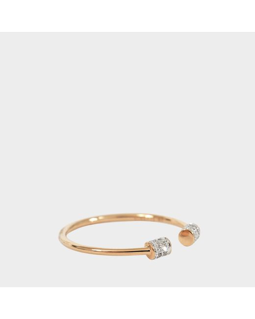 Ginette NY - White Single Diamond Choker Ring - Lyst
