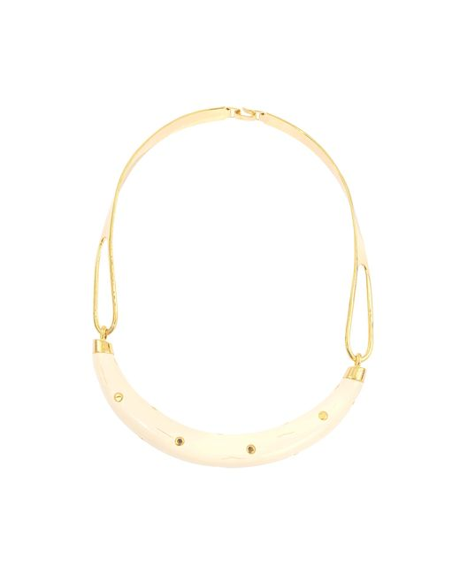 Aurelie Bidermann | Pink Studded Caftan Moon Necklace | Lyst