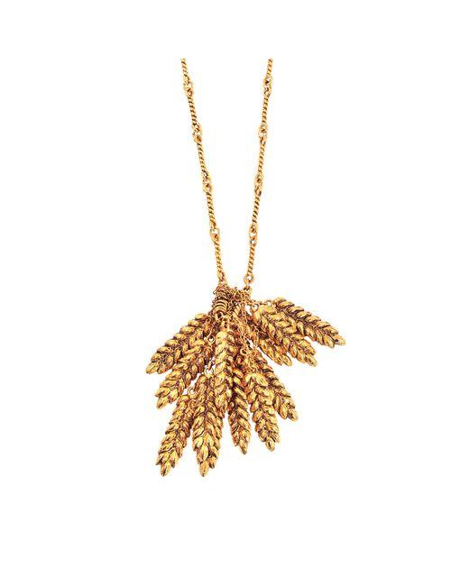 Aurelie Bidermann | Metallic Long Wheat Necklace | Lyst