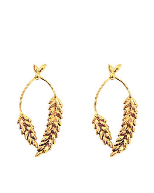 Aurelie Bidermann | Metallic 2 Cobs Wheat Earrings | Lyst