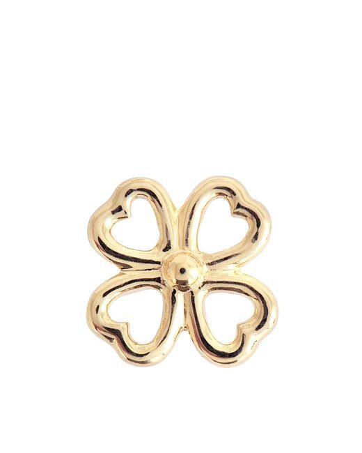 Aurelie Bidermann | Metallic Fine Jewellery - 18k Clover Single Earring With Diamond | Lyst