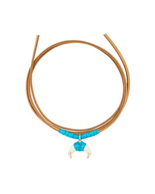 Aurelie Bidermann | Blue Takayama Necklace With Bakelite Gold Horn | Lyst